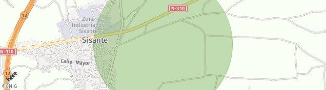 Mapa Sisante