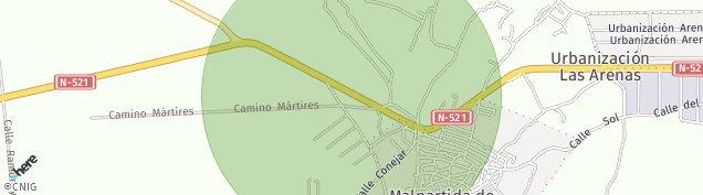 Mapa Malpartida de Cáceres