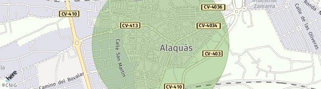 Mapa Alaquas