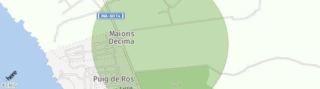 Mapa Badia Blava