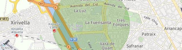 Mapa Xirivella