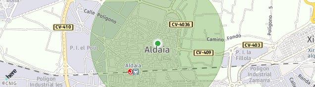 Mapa Aldaia