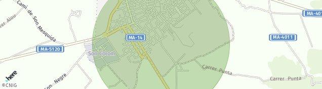 Mapa Felanitx