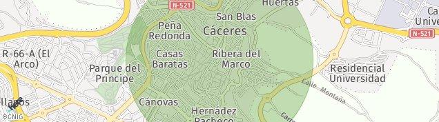 Mapa Cáceres