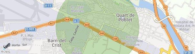 Mapa Quart de Poblet