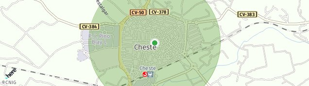 Mapa Cheste