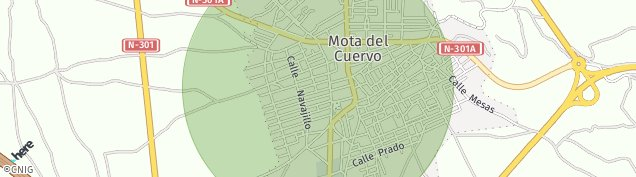Mapa Mota del Cuervo
