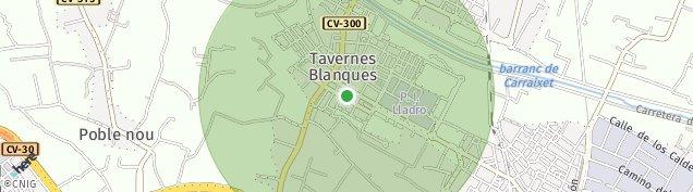 Mapa Tavernes Blanques