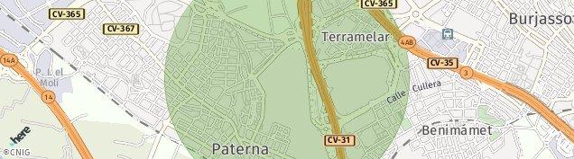 Mapa Paterna