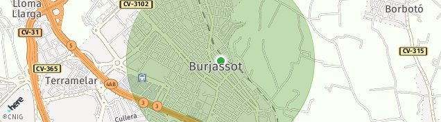 Mapa Burjassot