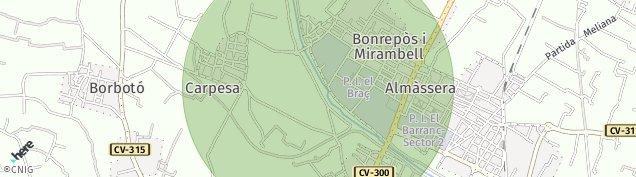 Mapa Borbotó