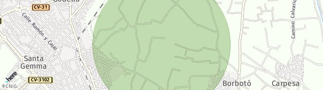 Mapa Godella
