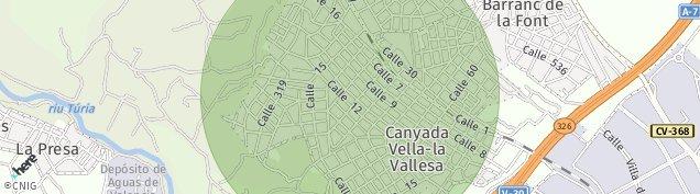 Mapa La Cañada