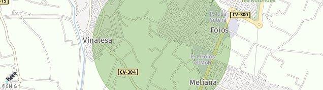 Mapa Foios