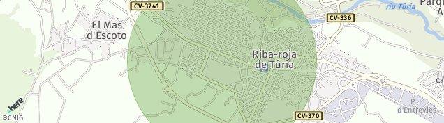 Mapa Riba-Roja de Turia