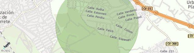 Mapa San Antonio de Benagéber