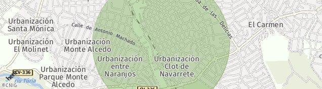 Mapa L'Eliana