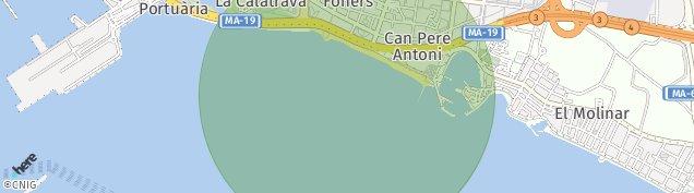 Mapa Palma de Mallorca