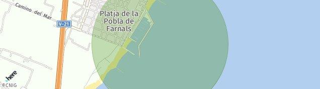 Mapa Playa Puebla de Farnals