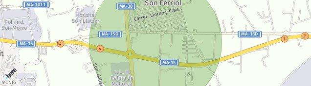 Mapa Son Ferriol