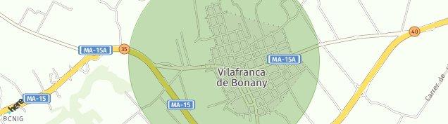 Mapa Vilafranca de Bonany