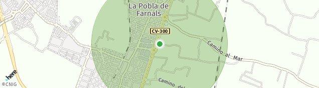 Mapa La Pobla de Farnals