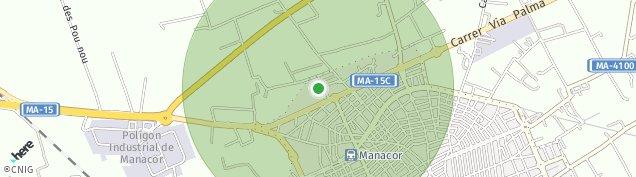 Mapa Manacor