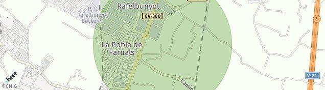 Mapa Rafelbuñol