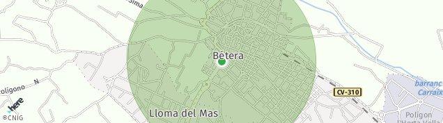Mapa Bétera