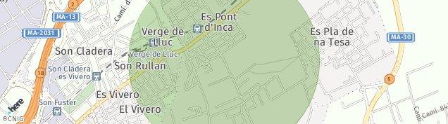 Mapa Es Pont d'inca