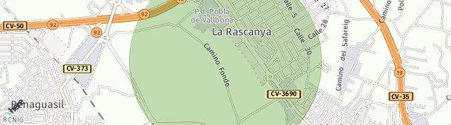 Mapa La Pobla de Vallbona
