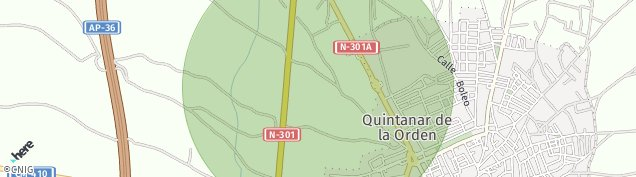 Mapa Quintanar de la Orden