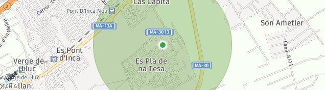 Mapa Pla de na Tesa