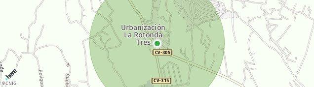 Mapa San Isidro de Benageber