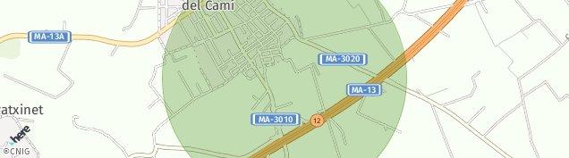 Mapa Santa María del Camí