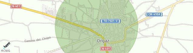 Mapa Orgaz
