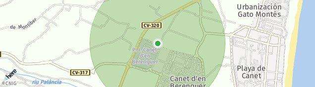 Mapa Canet d'En Berenguer