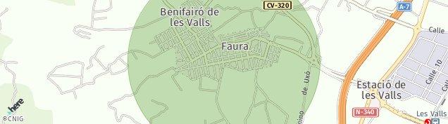 Mapa Faura