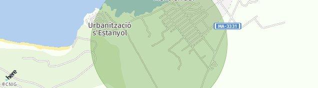 Mapa Colonia de Sant Pere