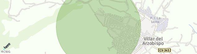 Mapa Villar del Arzobispo