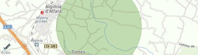 Mapa Algimia de Alfara