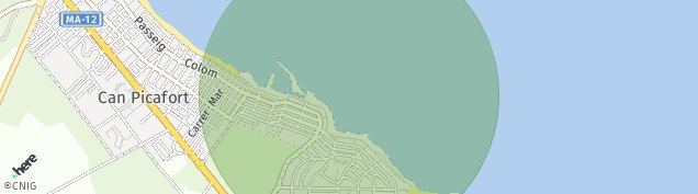 Mapa Ca'n Picafort
