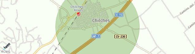 Mapa Chilches de Castellón