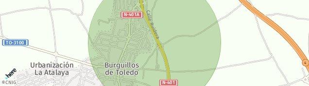 Mapa Burguillos de Toledo