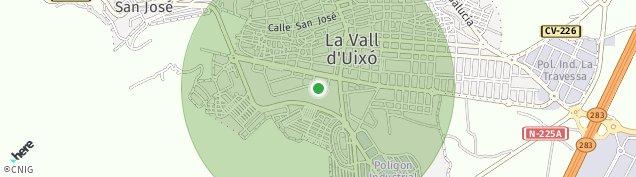 Mapa La Vall d'Uixó