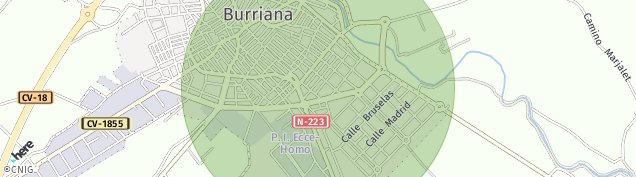 Mapa Burriana