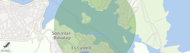 Mapa Es Castell