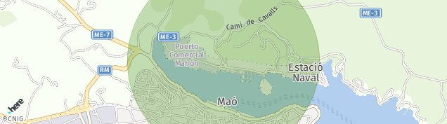 Mapa Maó