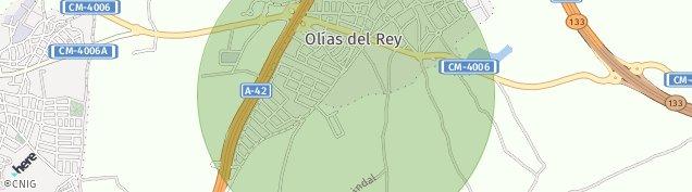 Mapa Olías del Rey