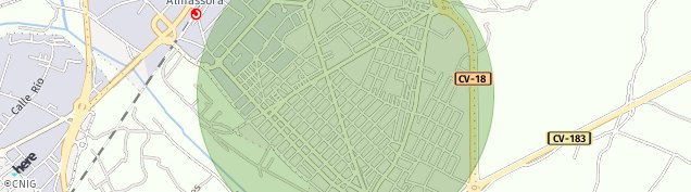 Mapa Almazora